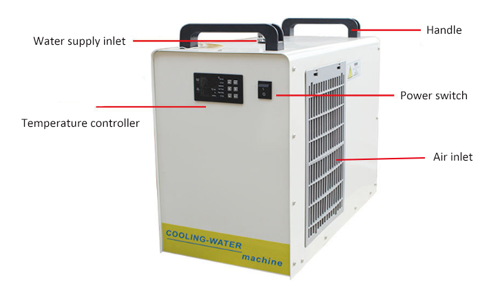 1/2 ton water chiller back side detail features