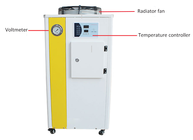 1 ton water chiller front side detail features