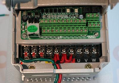 Single phase 120v input VFD terminal