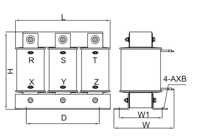 15hp(11kW) 3 phase line reactor