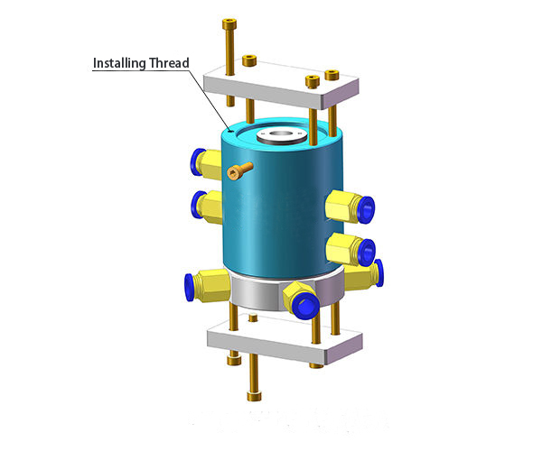 1-Passage Pneumatic Electrical Rotary Joint Installation Diagram