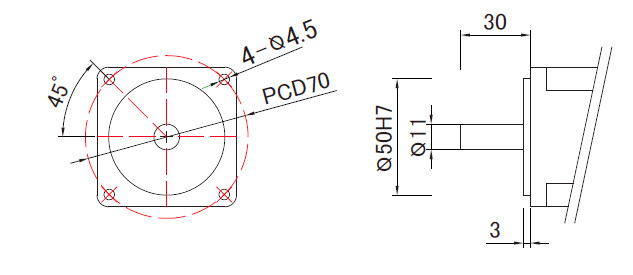 200W linear slide motor mounting dimensions