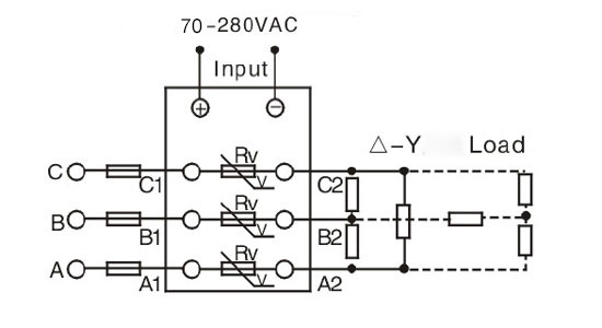 3 phase ssr wiring diagram 70-280vac