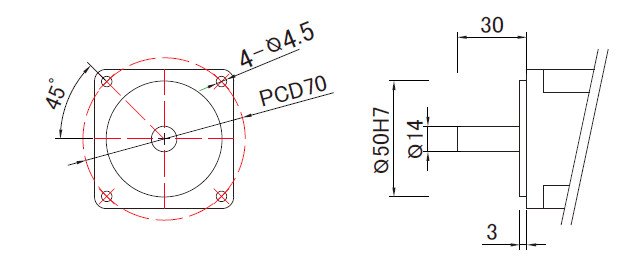 400W linear slide motor mounting dimensions