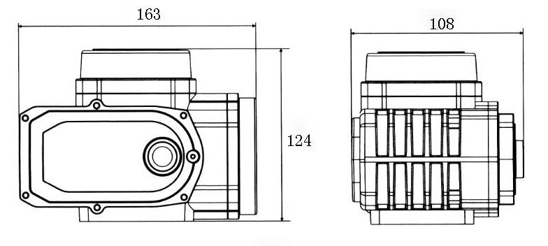 50Nm electric valve actuator dimensions