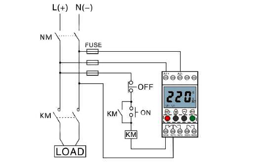 Voltage Monitoring Relay  Under  Over Voltage  1 Phase  110