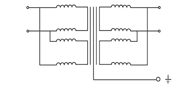 DG isolation transformer schematic diagram