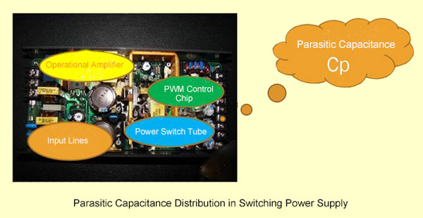 Parasitic capacitance inside switching power -supply