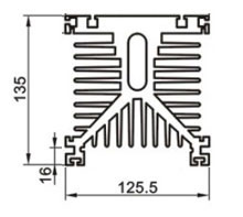 SSR 150Amp heat sink dimension