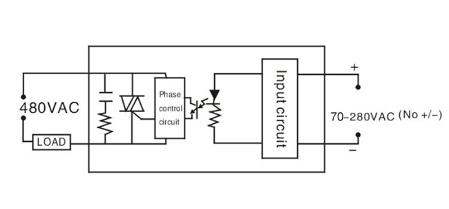 SSR single phase wiring ac-ac