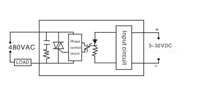 SSR single phase wiring dc ac