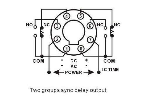 digital timer relay  8 pin  24v dc  110