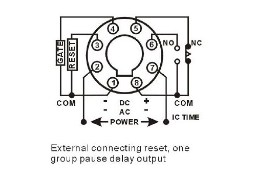 Timer relay connection