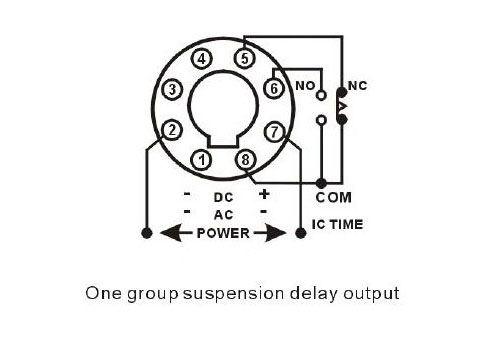 Timer relay switch output connection