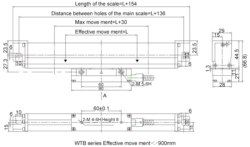 linear scale WTB dimension