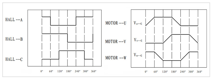 BLDC motor and hall relationship