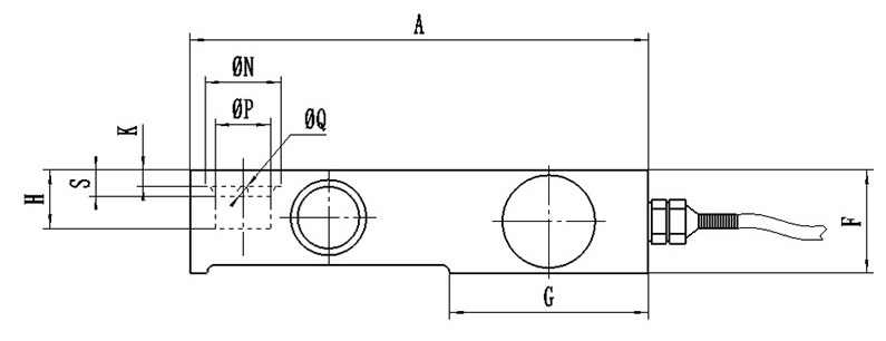 Cantilever beam load cell dimension