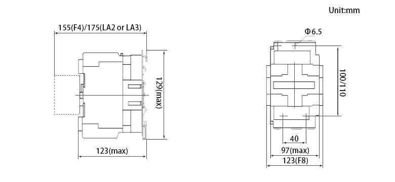80 amps 4 pole ac contactor 24v  110v  220v coil