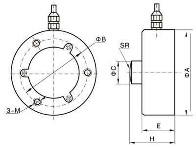 Compression load cell 200kg to 30 ton dimension