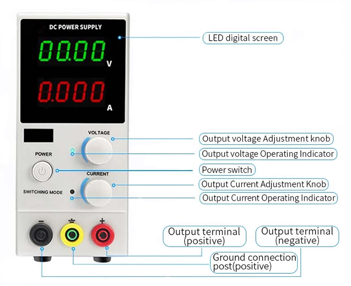 DC power supply detail features