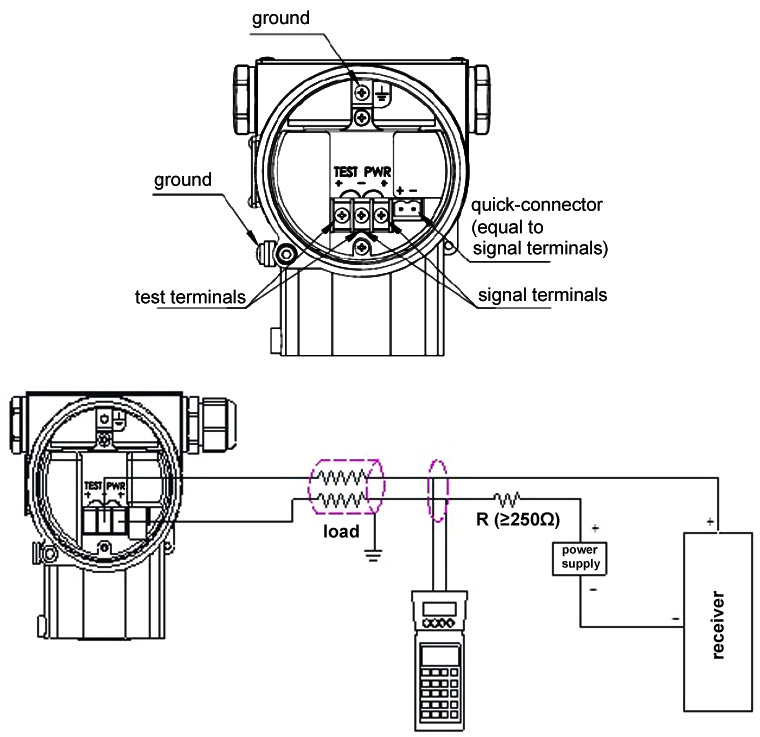 Differential pressure transducer wiring diagram