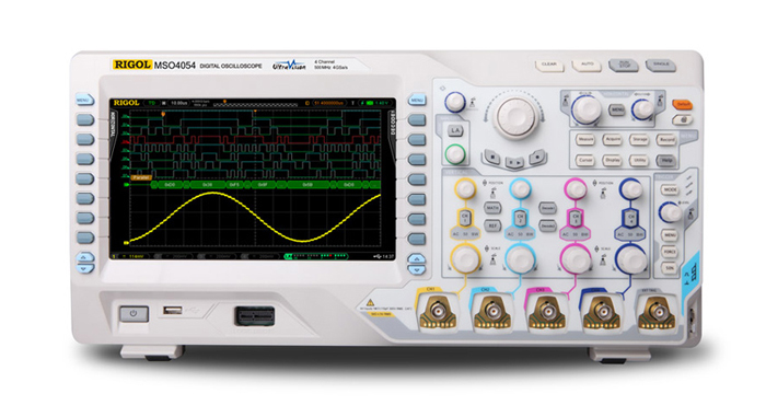 100MHz to 500MHz digital oscilloscope