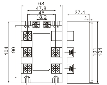 Dimension Drawing of Voltage Regulator Module Enhanced Type