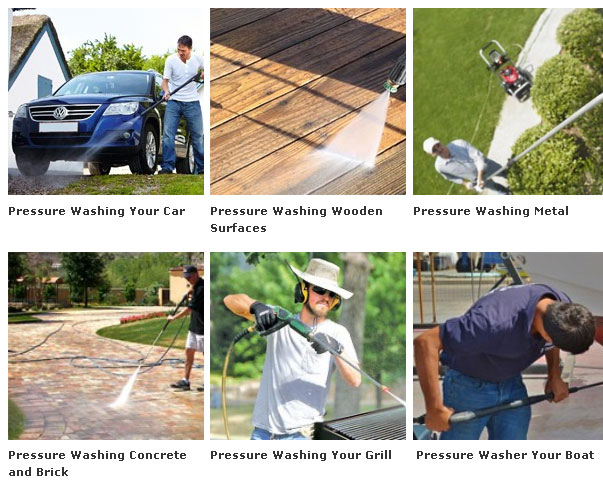 Electric pressure washer applications