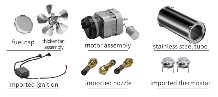 Fan heater spare parts