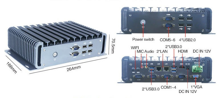fanless industrial pc rich interfaces