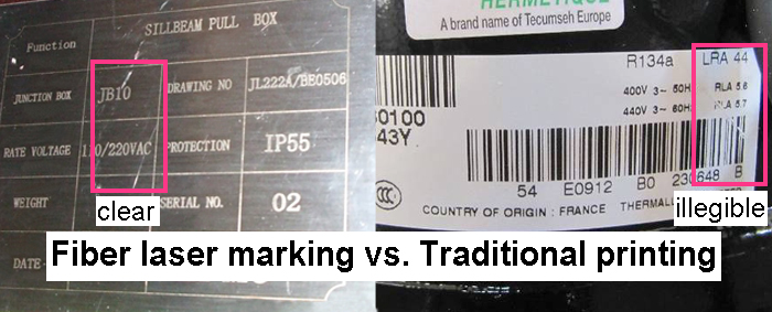 fiber laser marking vs traditional printing