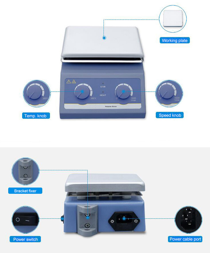 Hotplate magnetic stirrer details