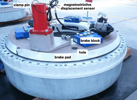 Hydraulic disc braking system with clamp pin