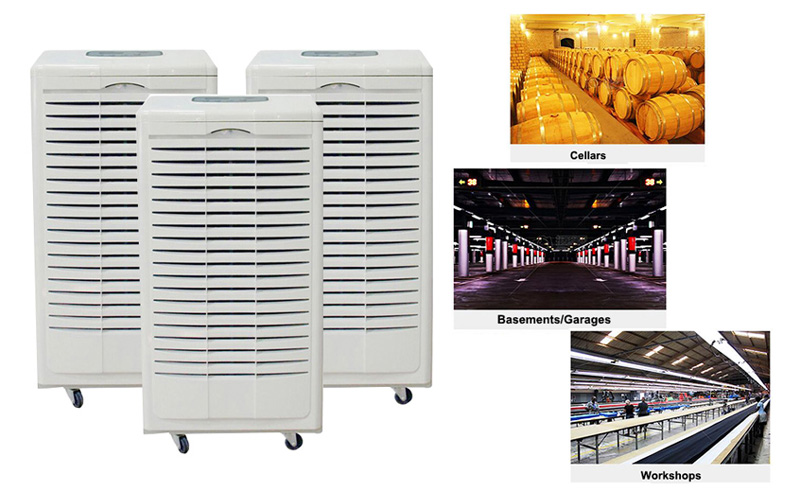 Industrial Dehumidifiers for Basements