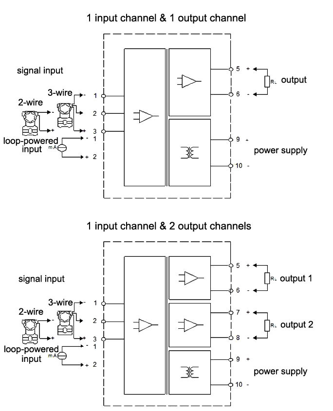 Loop Powered Signal Isolator 4 0 0 1 0