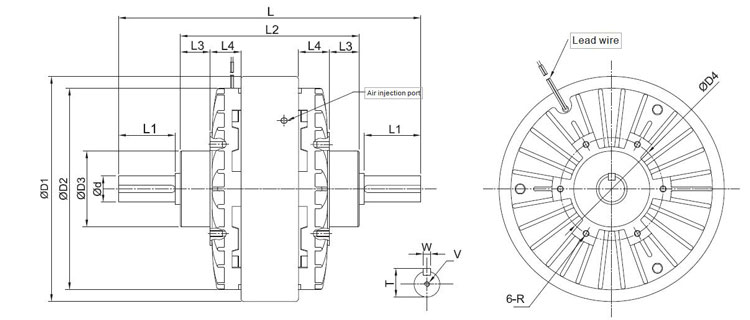 Magnetic particle clutch dimension