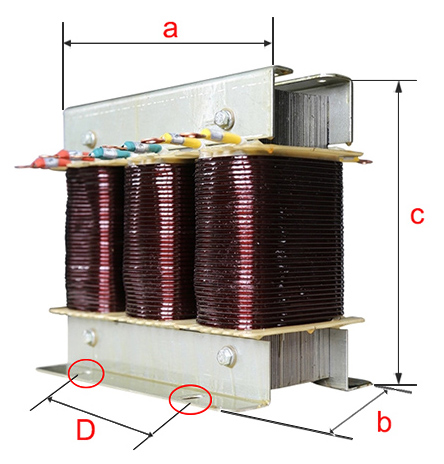 Open type isolation transformer dimension