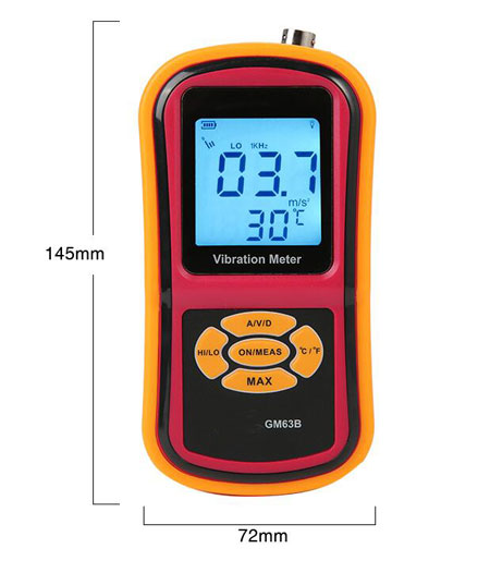 portable vibration meter dimension