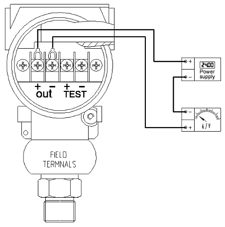 Pressure transducer wiring drawing