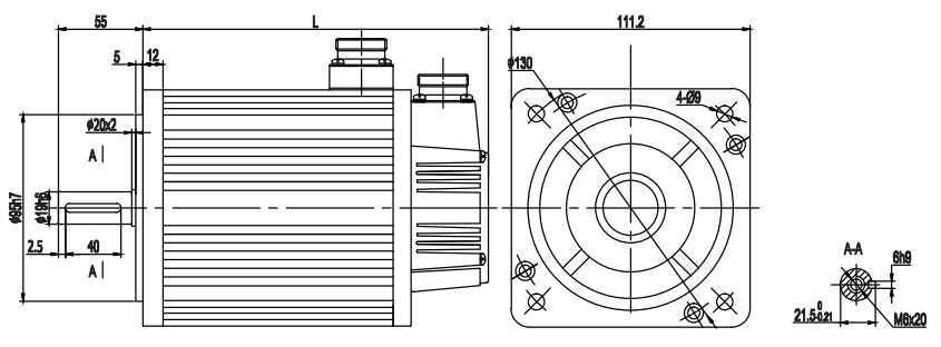 servo motor 110 dimension.