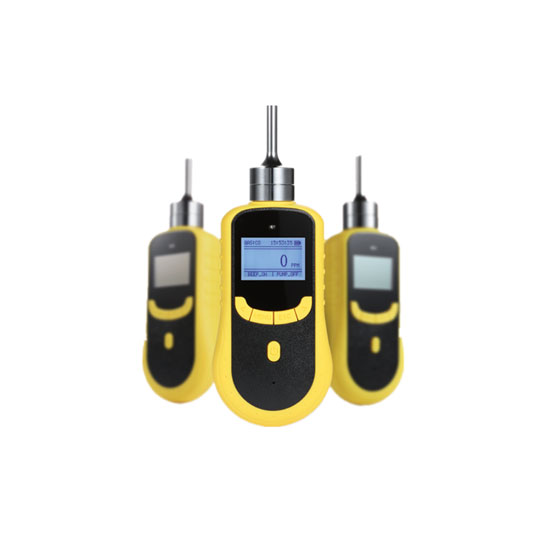 Portable single gas detector with a pump