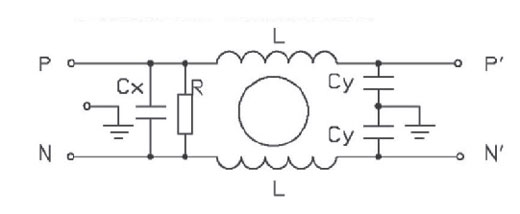 single phase filter electrical schematic