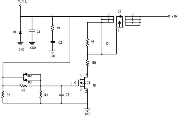 Soft start protection circuit