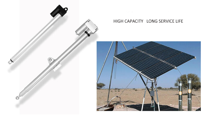 Solar linear actuator for solar system