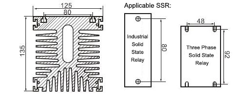Solid State Relay Heat Sink Dimension