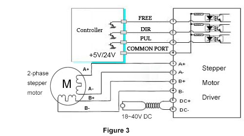 stepper motor driver circuit 2 phase