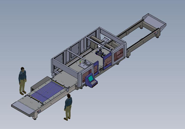 the CNC worktable working procedure chart two