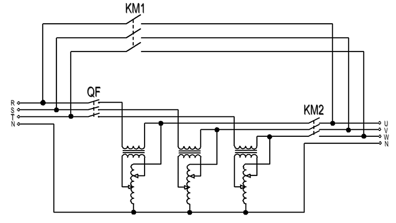 three phase voltage stabilizer schematic diagram