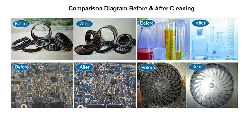 Ultrasonic Cleaner Comparison Before and After Cleaning