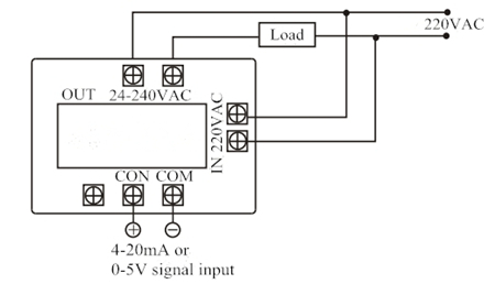 Wiring Diagram of Voltage Regulator Module Single Phase Active